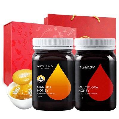 蜜滋蘭麥盧卡UMF5+&多花蜂蜜經典禮盒裝1000g 滋補蜂蜜 其他 送禮送人