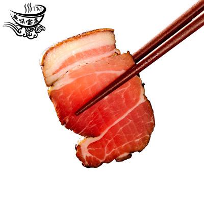 聚味宝盆 湖南五花前腿腊肉500g/袋装 农家传统工艺特产腊/腌肉烟熏腊肉 前腿黑腊肉
