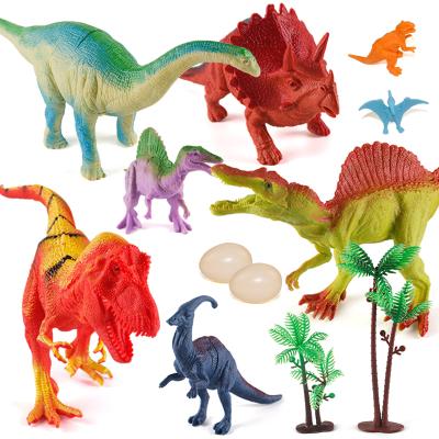 (12件套)港比熊玩具抖音玩具侏罗纪恐龙玩具仿真动物霸王龙蛋模型儿童小男孩礼物早教玩具宝宝3-6-9岁/随机色ML628