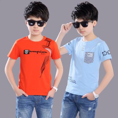 男童短袖T恤夏裝4中大童5半袖6體恤7兒童8純棉9上衣12-13十周歲15