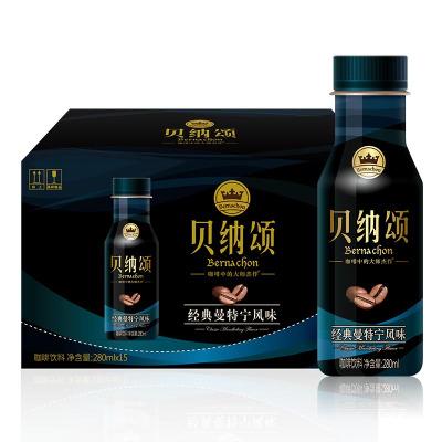 康師傅 貝納頌經典曼特寧風味280ml*15瓶裝 整箱裝 咖啡飲品飲料(含糖)