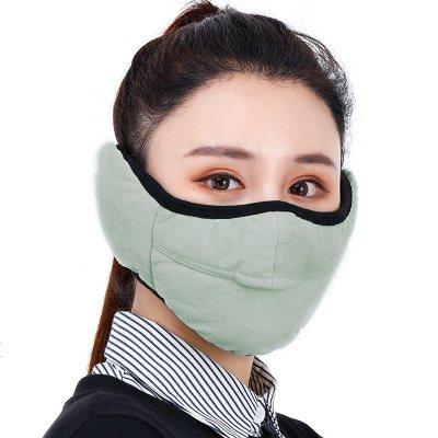 口耳罩二合一冬季加厚男女保暖防寒开口戴眼镜防雾防哈气面罩