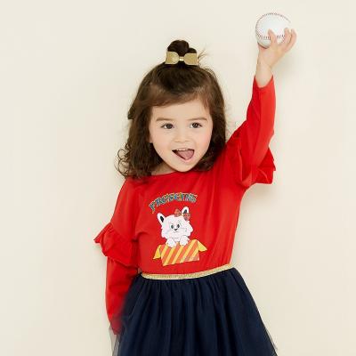 【2件2.5折價:39.8】美特斯邦威童裝moomoo女童打底衫新款秋裝洋氣寶寶女小童T恤