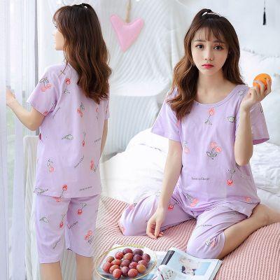 夏季短袖薄款棉質月子服懷孕期孕婦睡衣產后哺乳喂奶衣產婦家居服 諾妮夢