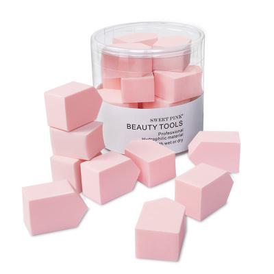 粉色安琪sweetpink 干濕兩用果凍粉樸15PCS/盒干濕兩用 清潔 粉撲 化妝棉 化妝粉撲