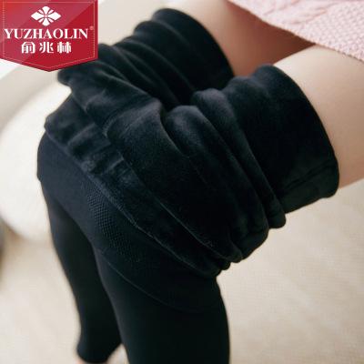 俞兆林新款一體褲 踩腳九分三合一款加絨加厚棉褲顯瘦保暖褲