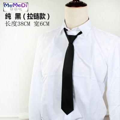 免打短款領帶女ins學院風男韓版窄版6CM拉鏈格子易拉得日系JK百搭