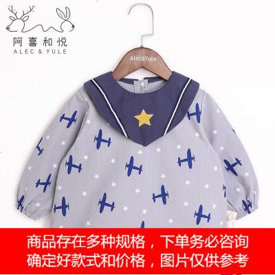 儿童倒褂罩衣宝宝围兜衣婴幼儿长袖吃饭护衣防水防脏秋冬