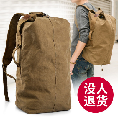 大容量雙肩包男行李包旅行包潮休閑男士帆布背包輕便戶外功能箱包旅游運動包