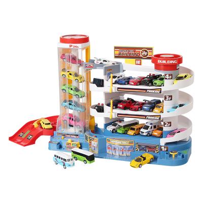 童智欣儿童汽车大楼轨道电动升降停车场玩具套装男孩生日礼物