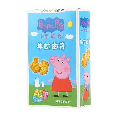 小猪佩奇PeppaPig牛奶曲奇饼干40克 盒装