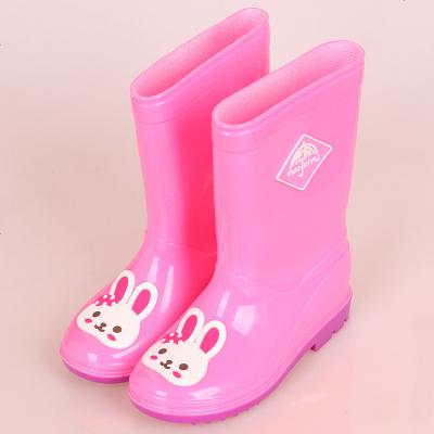 高筒儿童雨鞋男女童雨靴大码雨鞋卡通可爱水鞋时尚雨鞋四季胶鞋