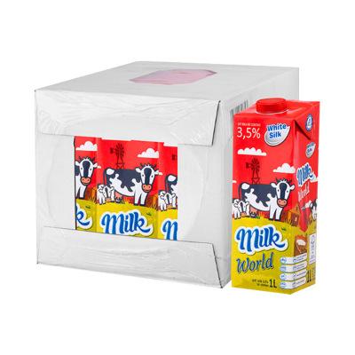 怀丝(white silk)全脂纯牛奶(常温奶) 1L*12盒 波兰原装进口 万博官网app体育ios版直采纯牛奶