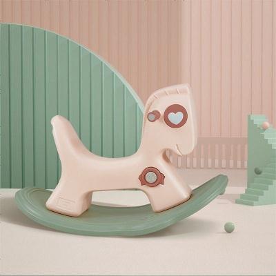 babycare寶寶搖搖馬 兒童搖馬塑料小木馬 1-2-3周歲禮物嬰兒玩具 克里奧粉