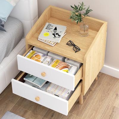 小型迷你簡易床頭柜置物架藤印象簡約現代臥室收納小柜子床邊儲物柜