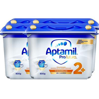 4罐裝|德國產愛他美 安心罐 白金版 雙重HMOs Aptamil海外 幼兒配方奶粉2+段 5段 2歲及以上800G