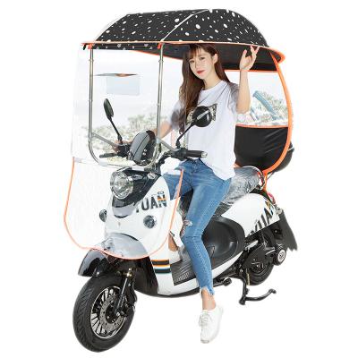 電動車雨棚新款遮雨罩摩托車遮陽傘電瓶自行車擋風罩加厚雨棚