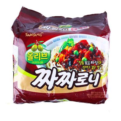 【吃播博主推薦】三養(Samyang)炸醬面5袋/包 干拌面 泡面 方便面 方便速食進口食品 韓國進口