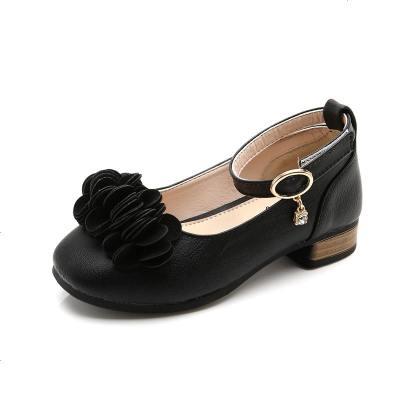 童鞋女童鞋子黑色皮鞋小女孩公主鞋韩版宝宝儿童单鞋春秋2019新款