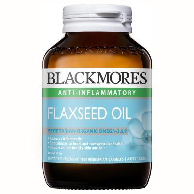 澳洲進口 Blackmores 澳佳寶 亞麻籽油軟膠囊 100粒 含OMEGA3,6,9