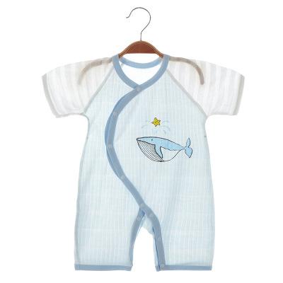 班杰威爾Banjvall嬰兒連體衣 夏季初生新生嬰兒衣服男寶寶睡衣薄款夏裝夏天哈衣爬爬服新生兒衣服嬰幼兒內衣系列