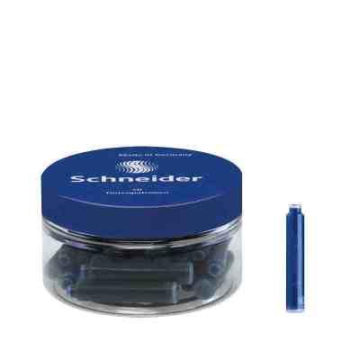 德國進口 施耐德(Schneider)瓶裝墨水膽墨囊鋼筆水歐標通用墨膽 一次性墨水芯 墨膽30支瓶裝
