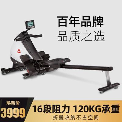 銳步(Reebok)劃船機電磁控家用智能靜音折疊劃船器阻力健身房器材