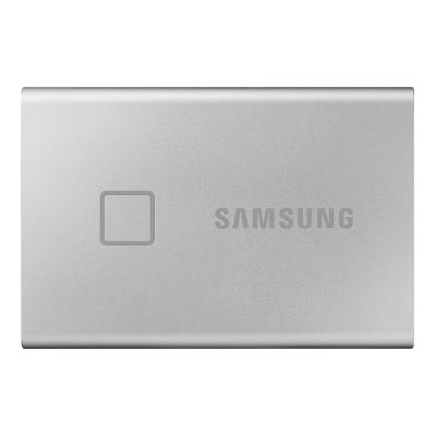 三星(SAMSUNG)移動固態硬盤 PSSD T7 Touch 2TB USB 3.2 指紋識別 時尚銀