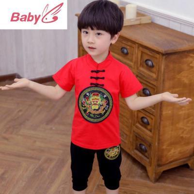 男童唐裝寶寶夏季2020新款套裝女童民族風兒童漢服中大童姐弟裝潮 SUNTEK