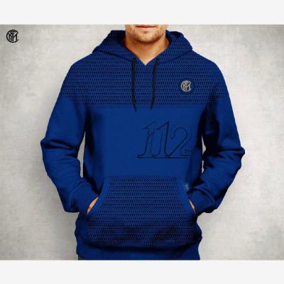 國際米蘭112周年限定款戶外舒適透氣純棉運動休閑球迷運動衫男士長袖純色球迷20新款連帽衛衣