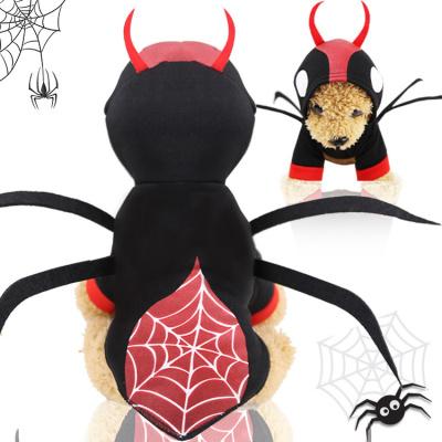 萬圣節蜘蛛甲殼蟲變身裝狗狗衣服貓咪寵物秋冬小中型犬用品