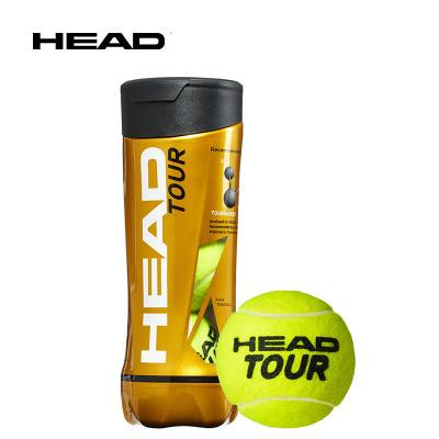 HEAD海德網球初學訓練球CTA比賽用球單人練習非帶線繩網球TOUR黃金球