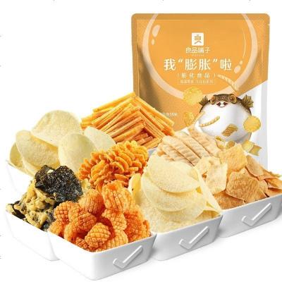 良品鋪子-我膨脹啦-膨化大禮包390gx1袋 膨化零食小吃薯片