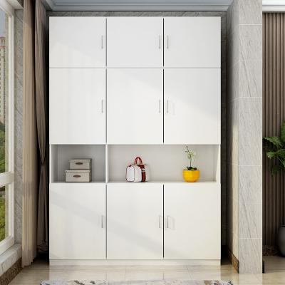 大容量阳台柜储物柜经济型鞋柜杂物柜衣柜飘窗柜防晒家用 两门高200宽100深42