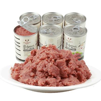 【蘇寧優選】桃花會 寵物食品 寵物狗罐頭牛肉狗濕糧拌 【高蛋白低脂肪補肝明目】兔肉泥+兔肝罐頭375g*6罐 6個月以上