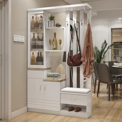本蘭 屏風玄關隔斷柜酒柜間廳柜門廳雙面鞋柜現代簡約客廳進門隔斷儲物柜