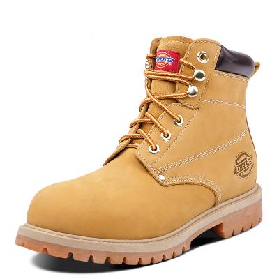 Dickies英倫風馬丁靴秋冬季男靴子真皮踢不爛大黃靴工裝靴男士短靴174M50LXS26