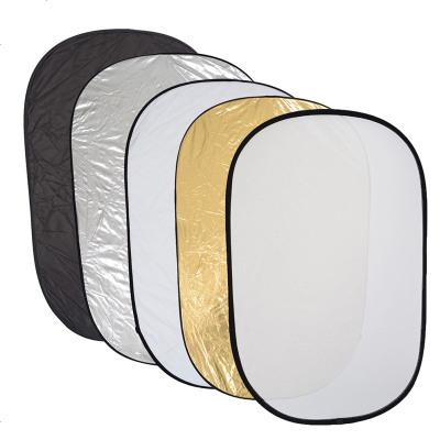 HKNA 攝影反光板五合一90120柔光板疊便攜帶拍攝器材 補光拍照反光