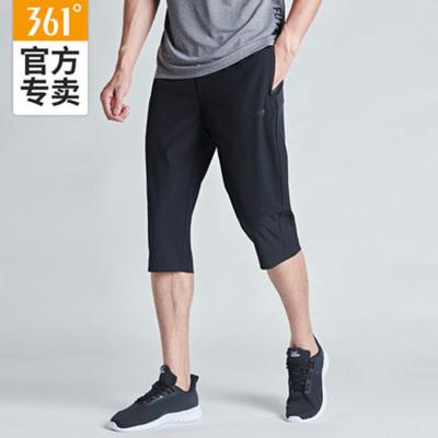 361°運動七分褲男春夏潮流寬松薄款休閑透氣褲子男士跑步健身短褲