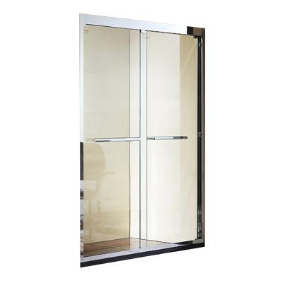 箭牌(ARROW)整體淋浴房 浴室鋼化玻璃304不銹鋼一字型淋浴房 一體成型浴室衛生間玻璃移門式洗澡間