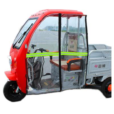 雨棚時尚電動三輪車前擋風簾左右后門簾快遞車篷圍前車頭雨簾