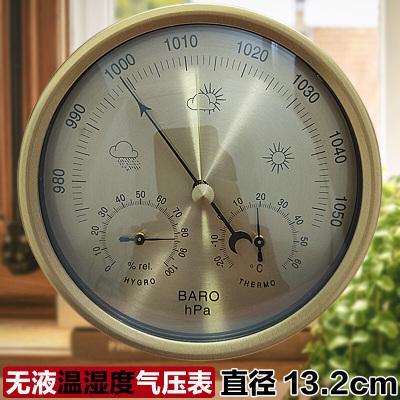 大气压表钓鱼气压计高精度压力计户外空气温湿度计大气压计yz