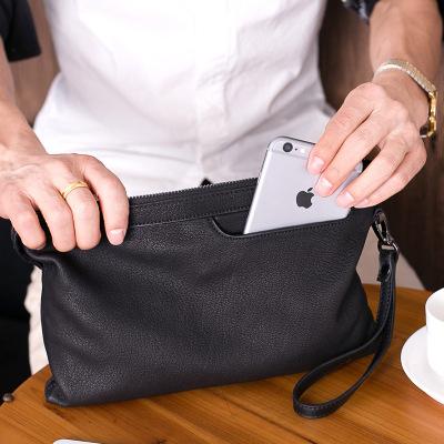 梵蒂加(VENTIGA)男包LZ-#105男士手包真皮软皮大容量手抓包羊皮男手拿包休闲手抓包夹包潮