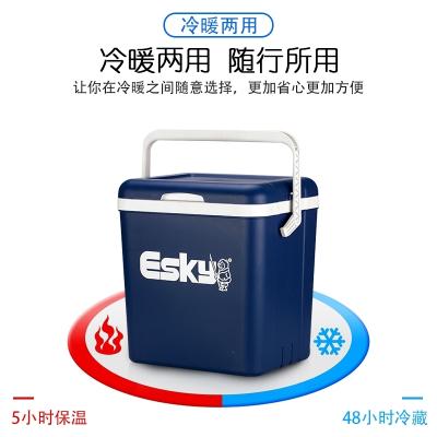 保温箱车载家用车用冰块便携式商用冷藏箱户外冰桶保冷保鲜箱闪电客 6L升级款(PU材质)送:4冰袋