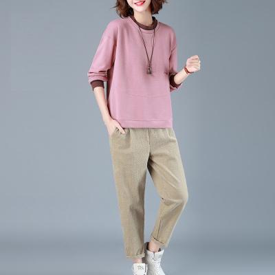 芷臻zhizhen2020春季新款衛衣套裝女兩件套時尚休閑寬松韓版洋氣個性潮