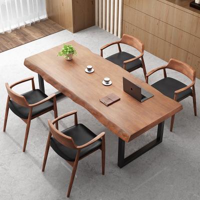 金沙公爵 實木書桌辦公臺式電腦桌書法桌椅組合家用書房寫字工作臺書桌大板桌子