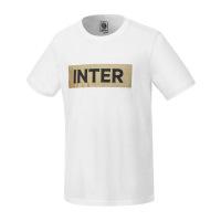 国际米兰俱乐部2019年夏季新品男士LOGO印花全棉短袖运动T恤纯色男圆领短款