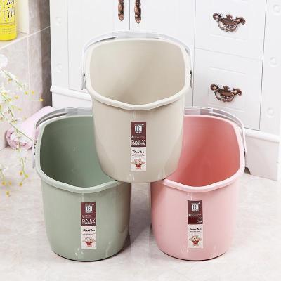 加厚塑料桶胶棉拖把池 小号水桶手提胶棉平板家用塑料桶长方形拖把手提拖把加厚