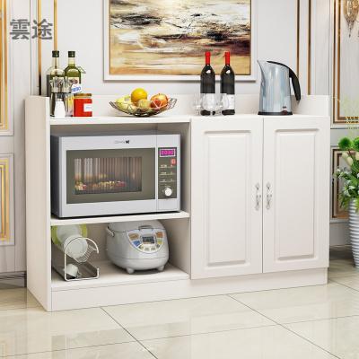 餐邊柜現代簡約北歐酒柜家用多功能茶水柜櫥柜碗柜客廳餐廳儲物柜定制 歐式大號四門32深-白色 雙門
