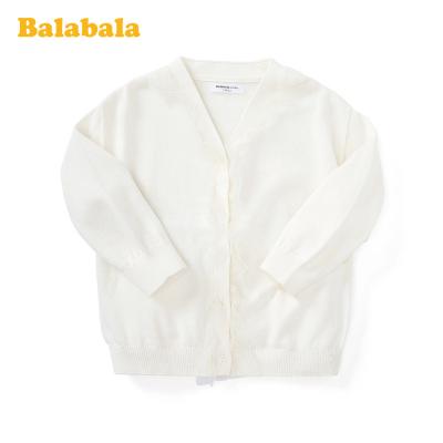 巴拉巴拉童裝兒童毛衣女童2020新款春季輕薄小開衫小童寶寶V領棉